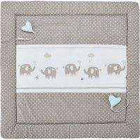 Spiel- und Krabbeldecke 'Eli' Elefant ¦ beige ¦ Bezug aus Webstoff (100% Baumwolle), Oberseite bedruckt, Füllung aus Polyesterv
