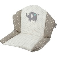Sitzverkleinerer Hochstuhl 'Eli' Elefant ¦ beige ¦ Bezug: 65% Polyester, 35% Baumwolle Oberfläche: Polyurethan, beschichtet und