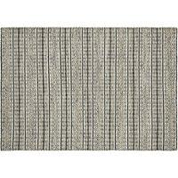 Handgewebter Teppich  Nordic 1 ¦ schwarz ¦ 100% Wolle, Wolle ¦ Maße (cm): B: 130 Teppiche > Wohnteppiche > Naturteppiche - Höffner