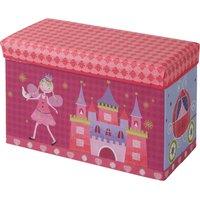 Sitzbank mit Stauraum Prinzessin ¦ rosa/pink ¦ Bezug: 100% Polyester Füllung: 100% Polyurethan Einlagen aus Pappe ¦ Maße (cm):
