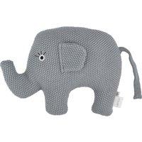 Kuscheltier Little Elefant ¦ blau ¦ Füllung aus 100% Polyester, Bezug aus 100% Baumwolle (gehäkelt) ¦ Maße (cm): B: 20 H: 16 -