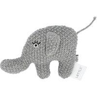Kleine Rassel Little Elefant ¦ grau ¦ Füllung aus 100% Polyester, Bezug aus 100% Baumwolle (gehäkelt) ¦ Maße (cm): B: 10 H: 6