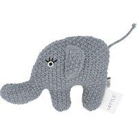Kleine Rassel Little Elefant ¦ Füllung aus 100% Polyester, Bezug aus 100% Baumwolle (gehäkelt) ¦ Maße (cm): B: 10 H: 6 - Höffn