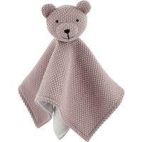 Schmusetuch Bärchen ¦ rosa/pink ¦ Vorderseite aus 100% Baumwolle (gehäkelt), Rückseite aus 100% Polyester (Nicki), Füllung aus
