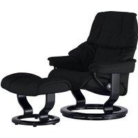 Stressless Relaxsessel mit Hocker schwarz - Leder Reno M ¦ schwarz ¦ Maße (cm): B: 79 H: 108 T: 75 - Höffner