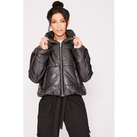 Black Coats - Nailah Black Cropped Padded Puffer Coat
