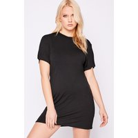 Black Dresses - Basic Black Jersey t Shirt Dress