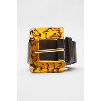 Black Belts - Black Tortoishell Buckle Belt