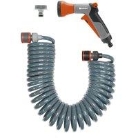 "Gardena Spiral City Hose Pipe Set 1/2"" / 12.5mm 10m Grey & Blue"