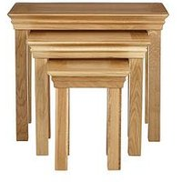 image-Luxe Collection - Constance Oak Nest Of 3 Tables