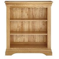 Product photograph showing Luxe Collection Constance Oak Ready Assembled Bookcase