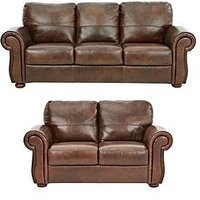 Product photograph showing Cassina Italian Leather 3 Seater 2 Seater Sofa Set Buy And Save