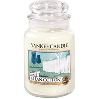 Product photograph showing Yankee Candle Large Jar - Clean Cotton