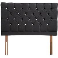 Product photograph showing Airsprung Ayah Padded Faux Suede Headboard