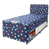Product photograph showing Airsprung Small Single Kids Storage Bed