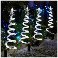 Product photograph showing Curly Pathfinders Outdoor Christmas Decorations 4 Pack