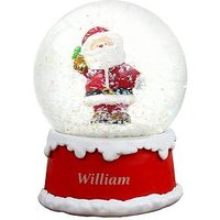 Product photograph showing Personalised Santa Snowglobe Christmas Decoration