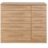 Product photograph showing Home Essentials - Prague 5 5 Graduated Chest Of Drawers