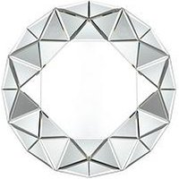Product photograph showing Gallery Round Faceted Mirror