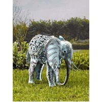 Product photograph showing Smart Solar Metal Silhouette Elephant
