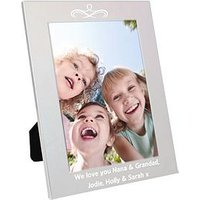 Product photograph showing Personalised Silver Photo Frame