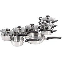 Product photograph showing Morphy Richards 8-piece Stainless Steel Pan Set