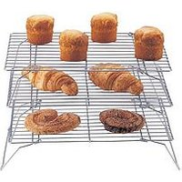 Product photograph showing Apollo 3-tier Chrome Cake Cooling Rack