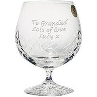 Product photograph showing The Personalised Memento Company Personalised Crystal Brandy Glass