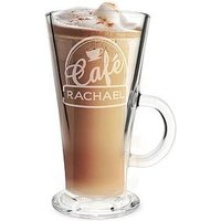 Product photograph showing Personalised Bistro Latte Glass