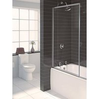 Product photograph showing Aqualux Aqua 3 Framed Bath Shower Screen