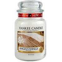 Product photograph showing Yankee Candle Large Jar Angel Wings
