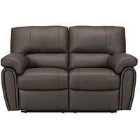 Product photograph showing Leighton Leather Faux Leather 2-seater Recliner Sofa