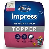 Product photograph showing Silentnight Impress 5cm Memory Foam Mattress Topper