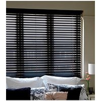 Product photograph showing Made To Measure 35 Mm Wooden Venetian Blinds - Black