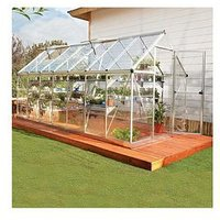 Product photograph showing Palram Harmony 6 X 14ft Greenhouse - Silver