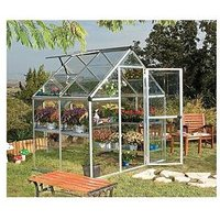 Product photograph showing Palram Harmony 6 X 4ft Greenhouse - Silver