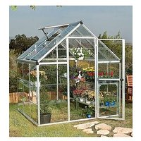 Product photograph showing Palram Harmony 6 X 6ft Greenhouse - Silver