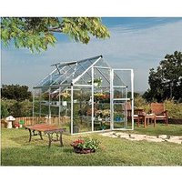 Product photograph showing Palram Harmony 6 X 8ft Greenhouse - Silver