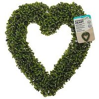 Product photograph showing Smart Solar 41 Cm Boxwood Hanging Heart