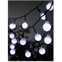 Product photograph showing Smart Garden 50 White Led Orb String Lights