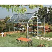 Product photograph showing Palram Harmony 6 X 10ft Greenhouse - Silver