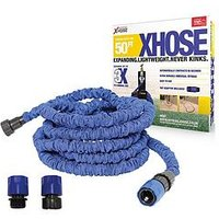 Product photograph showing Xhose Expanding Garden Hose Pipe With Tap Adaptor - 50ft