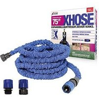 Product photograph showing Xhose Expanding Garden Hose Pipe With Tap Adaptor - 75ft