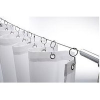 Product photograph showing Croydex Wireline With 12 Shower Curtain Hooks
