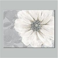 Product photograph showing Graham Brown Grey Bloom Canvas With Foil Print