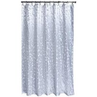 Product photograph showing Aqualona Metallic Leaf Shower Curtain