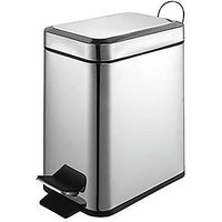 Product photograph showing Sabichi 5-litre Slimline Pedal Bin - Stainless Steel