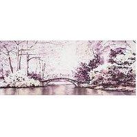 Product photograph showing Graham Brown Watercolour Forest Bridge Canvas