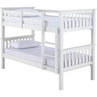 Product photograph showing Novara Detachable Bunk Bed With Mattress Options Buy And Save - Bunk Bed Frame With 2 Standard Mattresses
