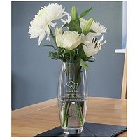 Product photograph showing Personalised Entwined Hearts Vase